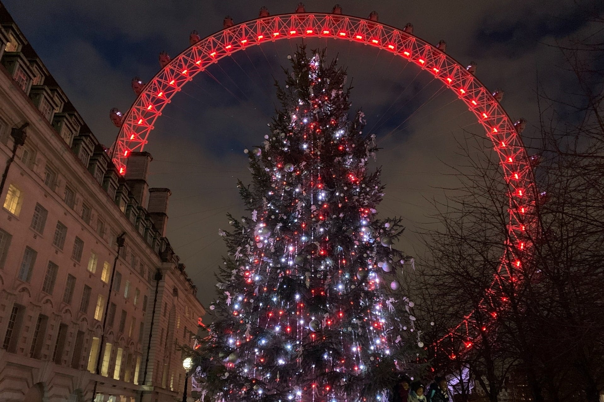 lit-up-christmas-tree-in-front-of-london-eye-at-night
